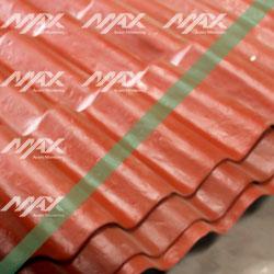 Lámina de plástico tipo teja